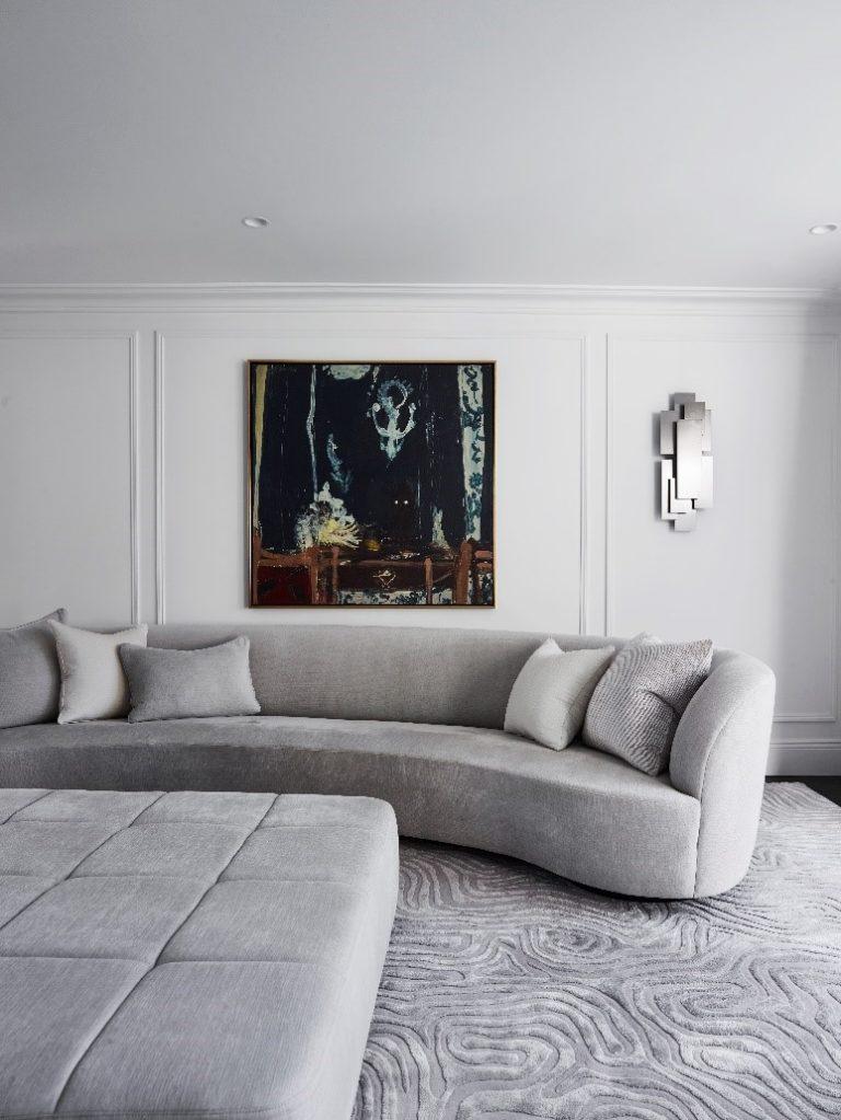 The Paddington Residence by POCO Designs highlighting how a custom rug makes the interior feel bespoke