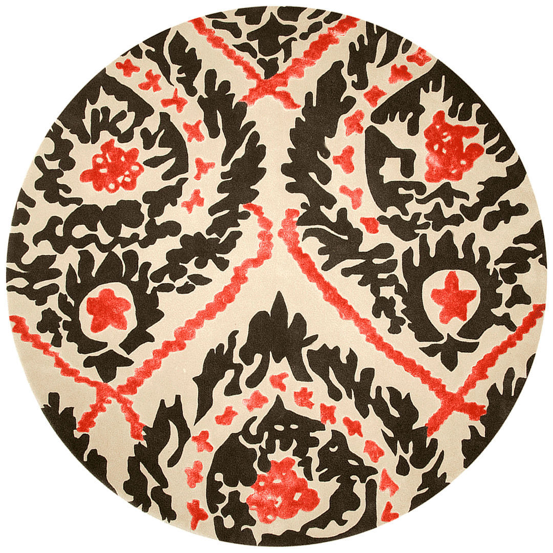 overhead of serendipity round rug evolve collection