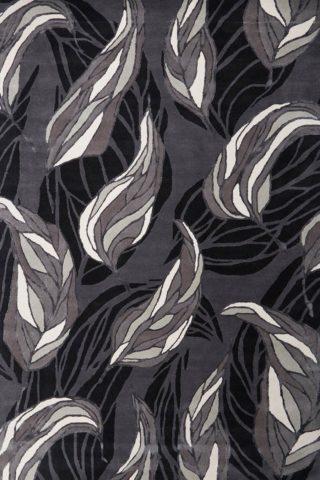 Overhead image of fallen leaves rug