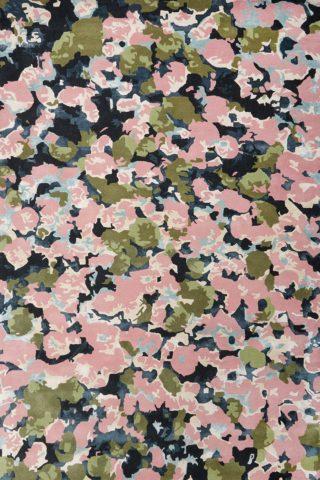 Overhead image of pink Flower Market rug