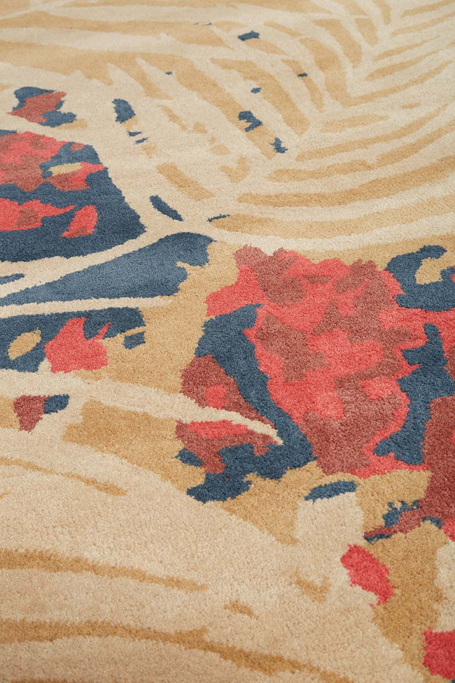 Detailed image of botanical Makani rug