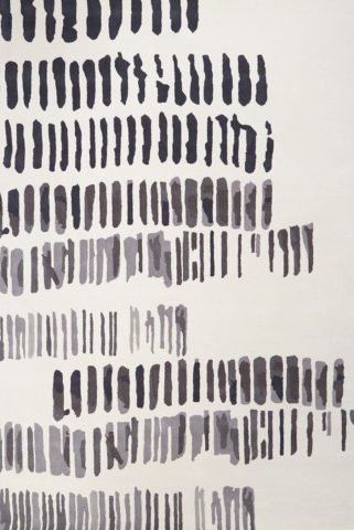 overhead image of painterly Markings rug