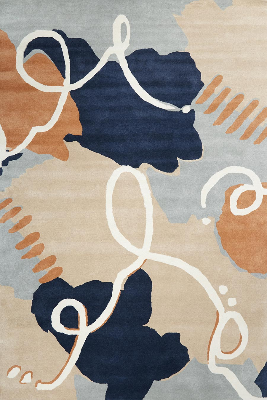 overhead image of abstract Palette rug
