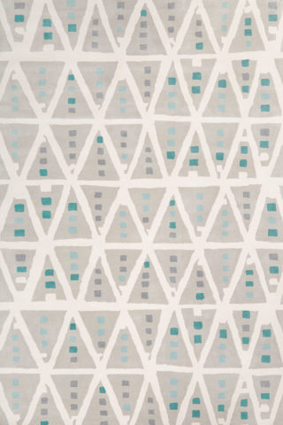 Overhead image of geometric Teepee rug