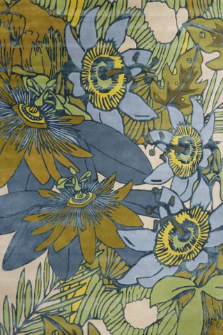 overhead image of floral Wailoa rug