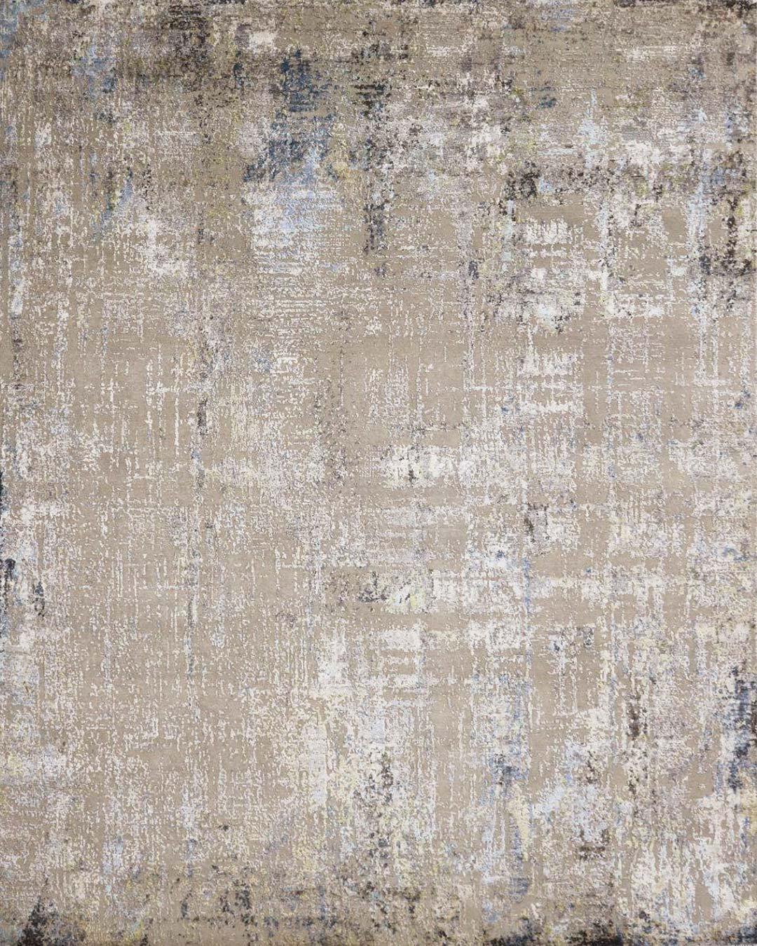 Overhead image of beige Lamancha rug