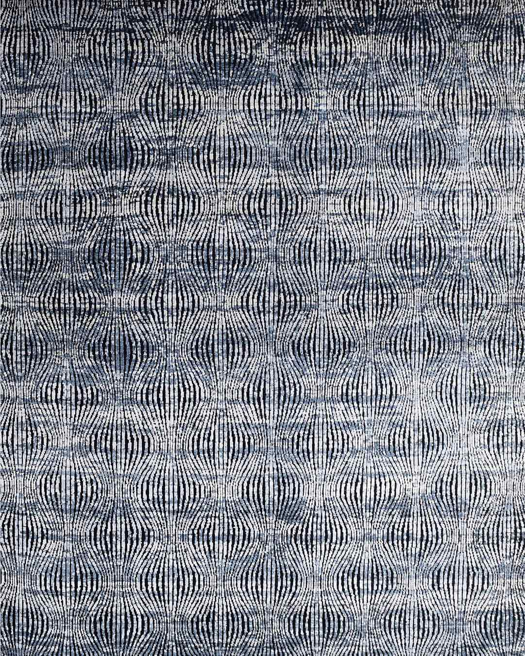 Overhead image of modern Argos rug in silver colour