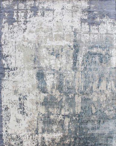 overhead image of textural Glacier rug