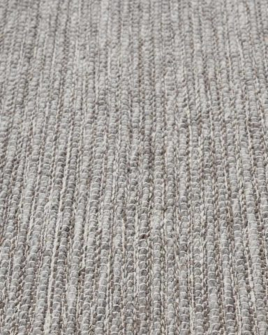 Close up view of textured Stylo rug in light grey colour