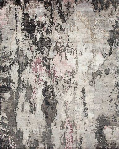 Product image of textural Quartz rug in pink and grey colour