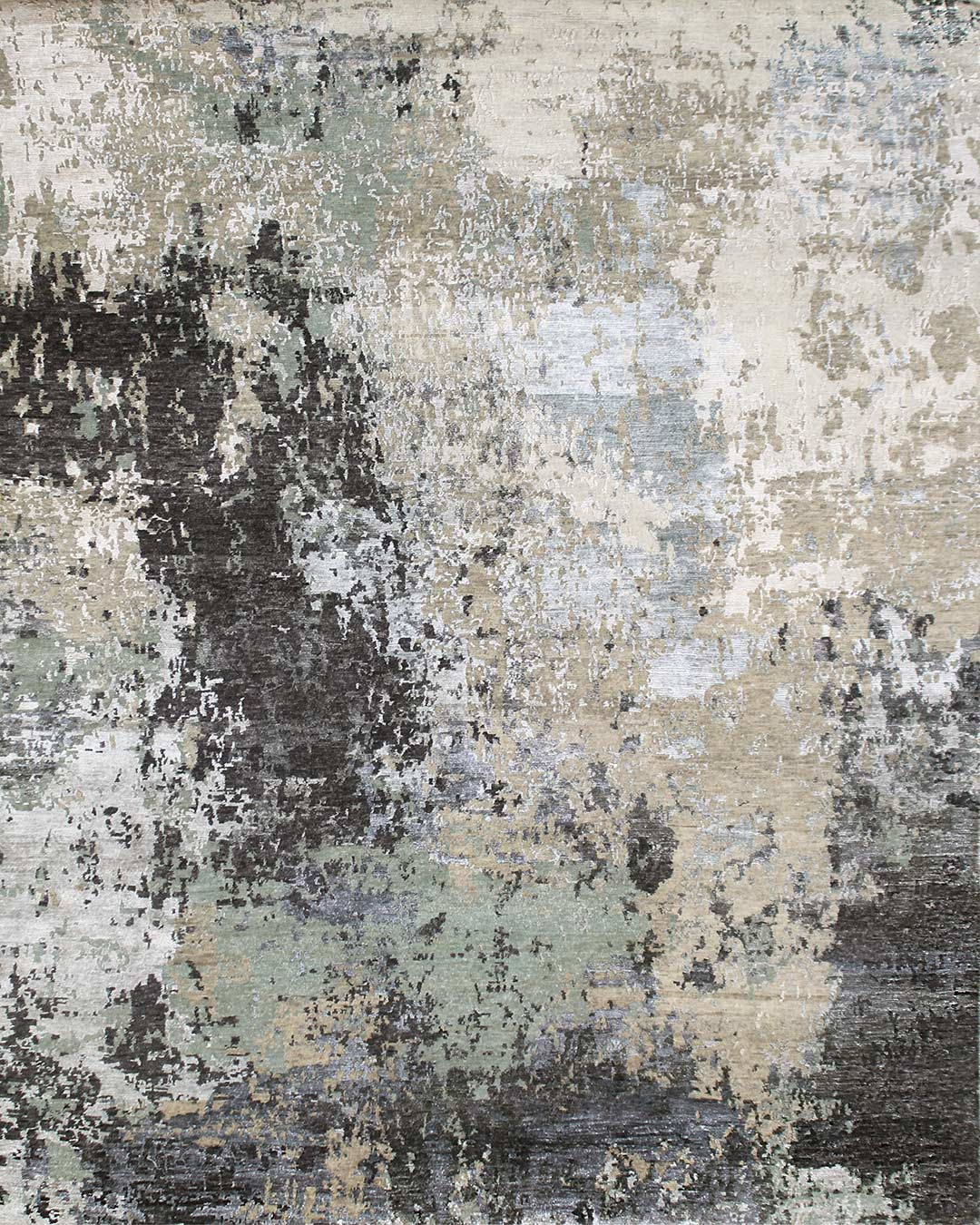 Product image of abstract Santorini rug in blue colour