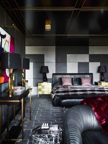 Custom wall to wall Miami rug by Greg Natale
