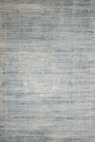 Overhead image of textural Wallace rug in blue beige colour