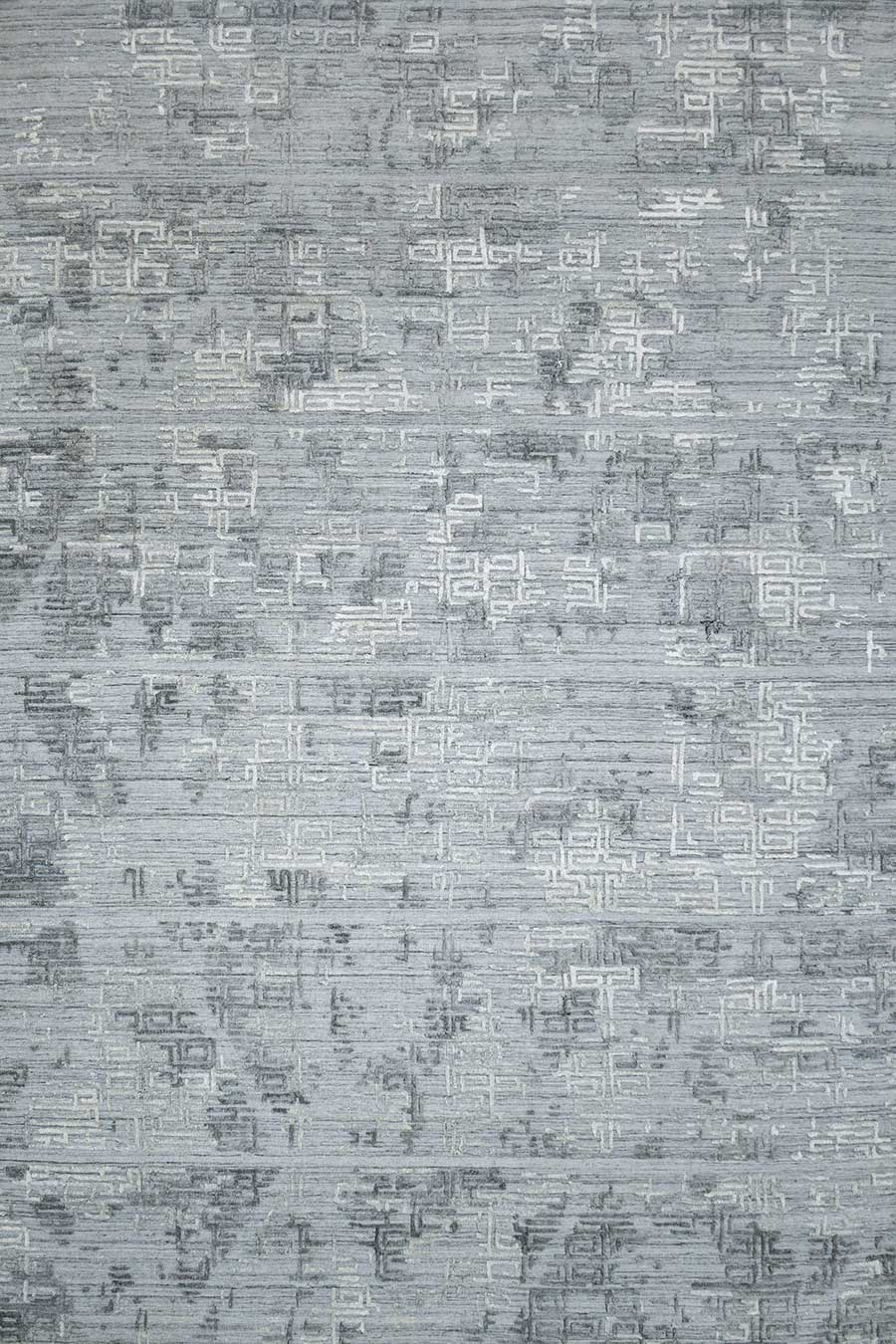 Overhead image of silver Wilson rug