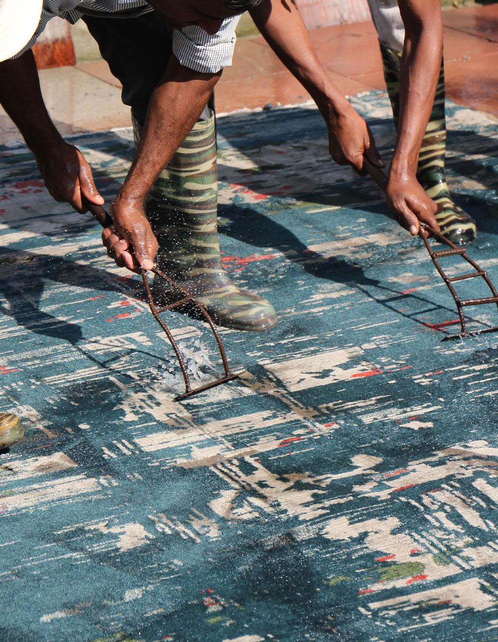 washing rugs