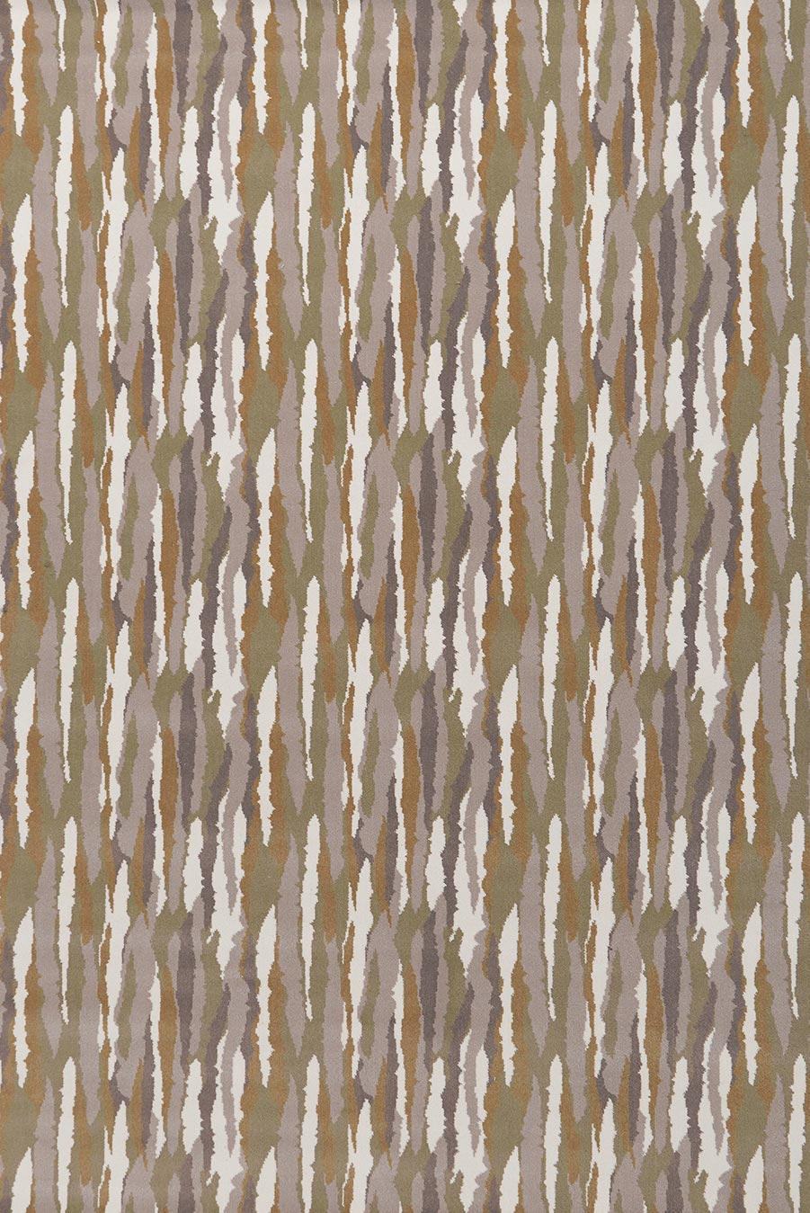 Overhead view of Drift brown patterned Axminster carpet by Greg Natale