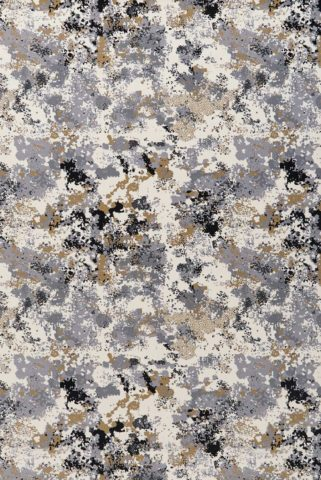 Overhead view of Fizz grey and gold patterned Axminster carpet by Greg Natale