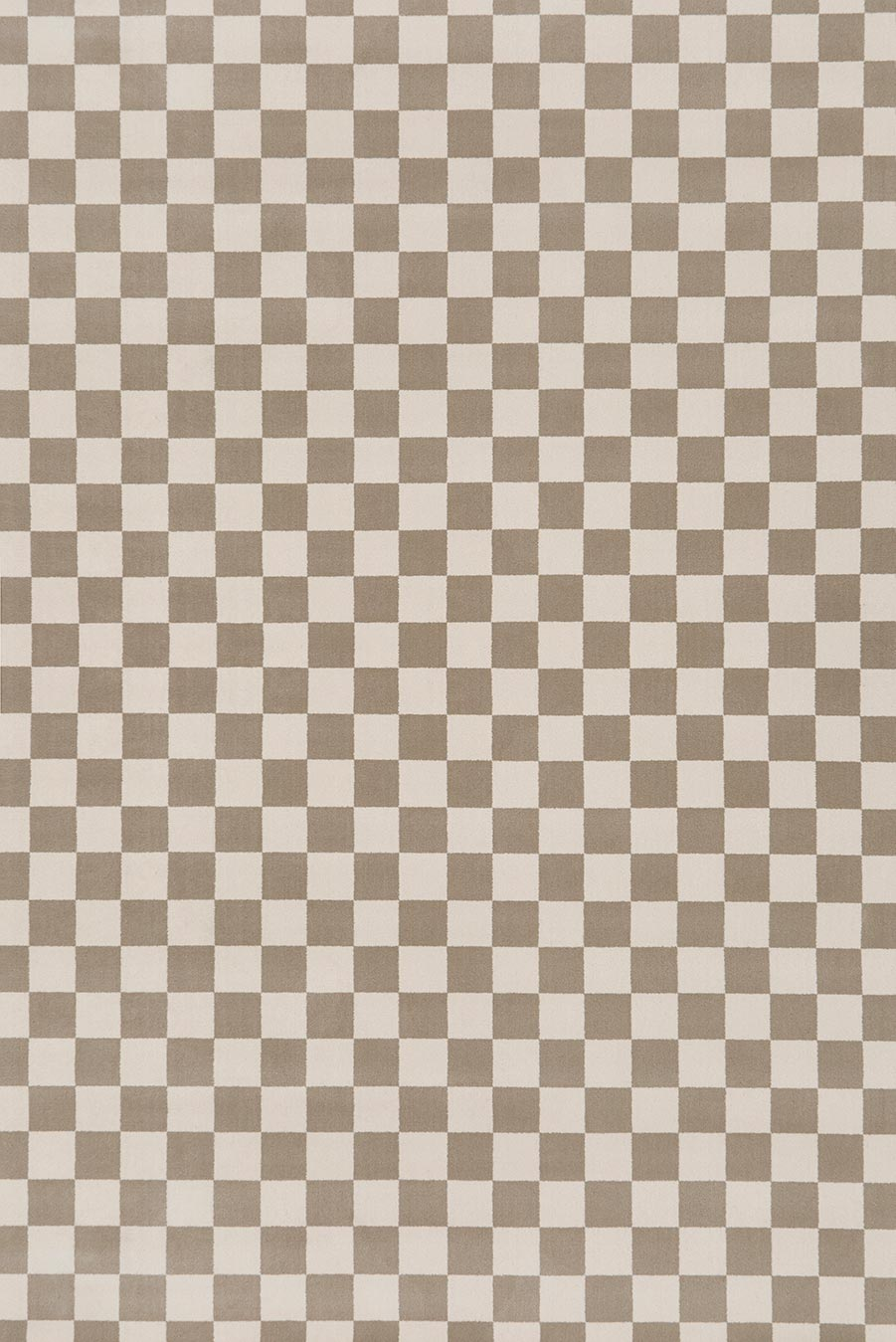 Overhead view of Match checked grey Axminster carpet by Greg Natale