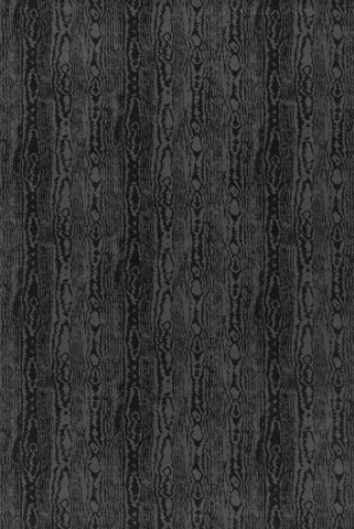Overhead view of Moire charcoal Axminster carpet by Greg Natale