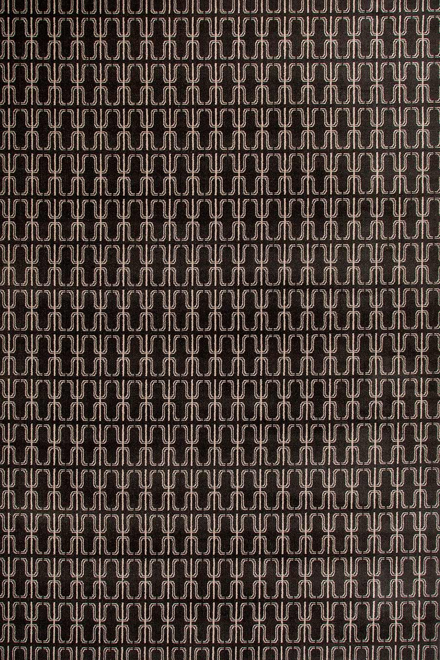 Overhead view of Thierry brown patterned Axminster carpet by Greg Natale