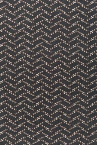 Overhead view of Windsor brown geometric Axminster carpet by Greg Natale