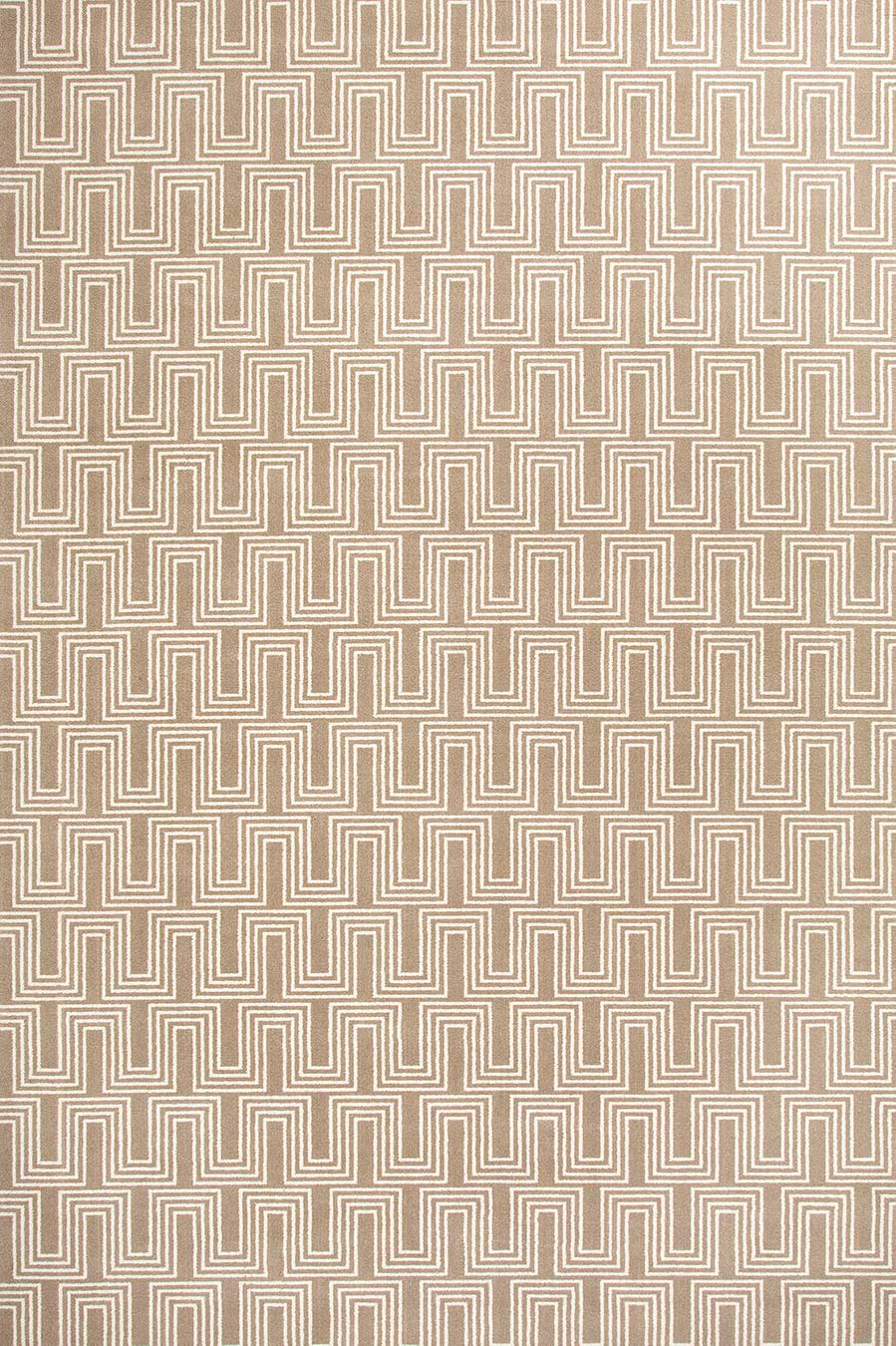 Overhead view of Yves beige patterned Axminster carpet by Greg Natale