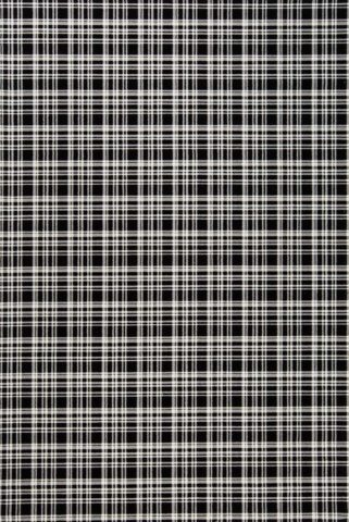 Overhead view of Alford black and white tartan Axminster carpet