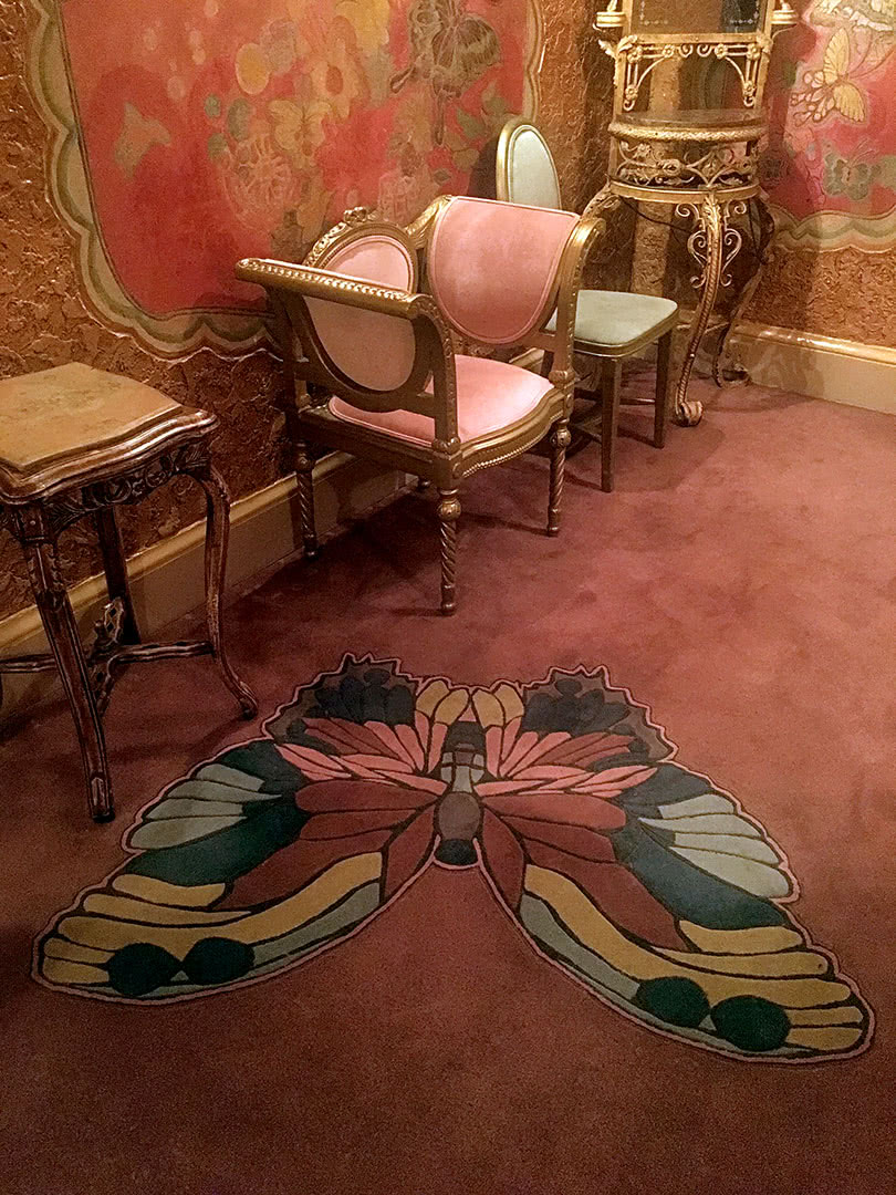 The State Theatre Butterfly room with rug and furniture