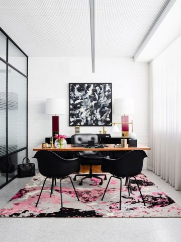 Handknotted Onyx rug by Greg Natale