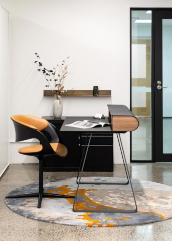Custom Hand tufted Aceto rug by Hare + Klein