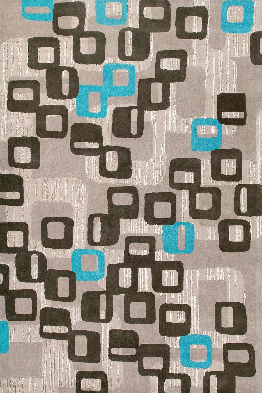 Overhead image of Boronia rug