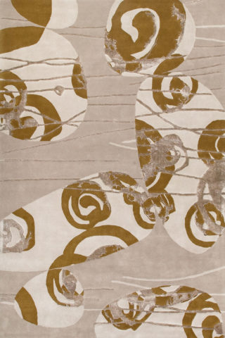 Overhead image of beige Hunter rug