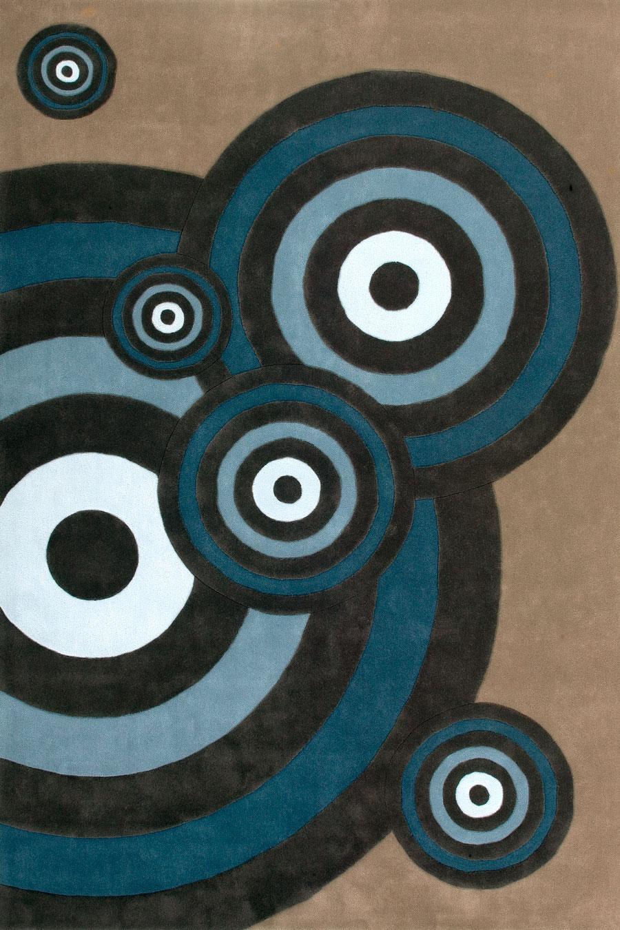 Overhead image of geometric Milton rug
