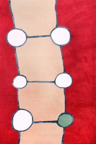 Overhead image of abstract Groundwork rug by Cloth