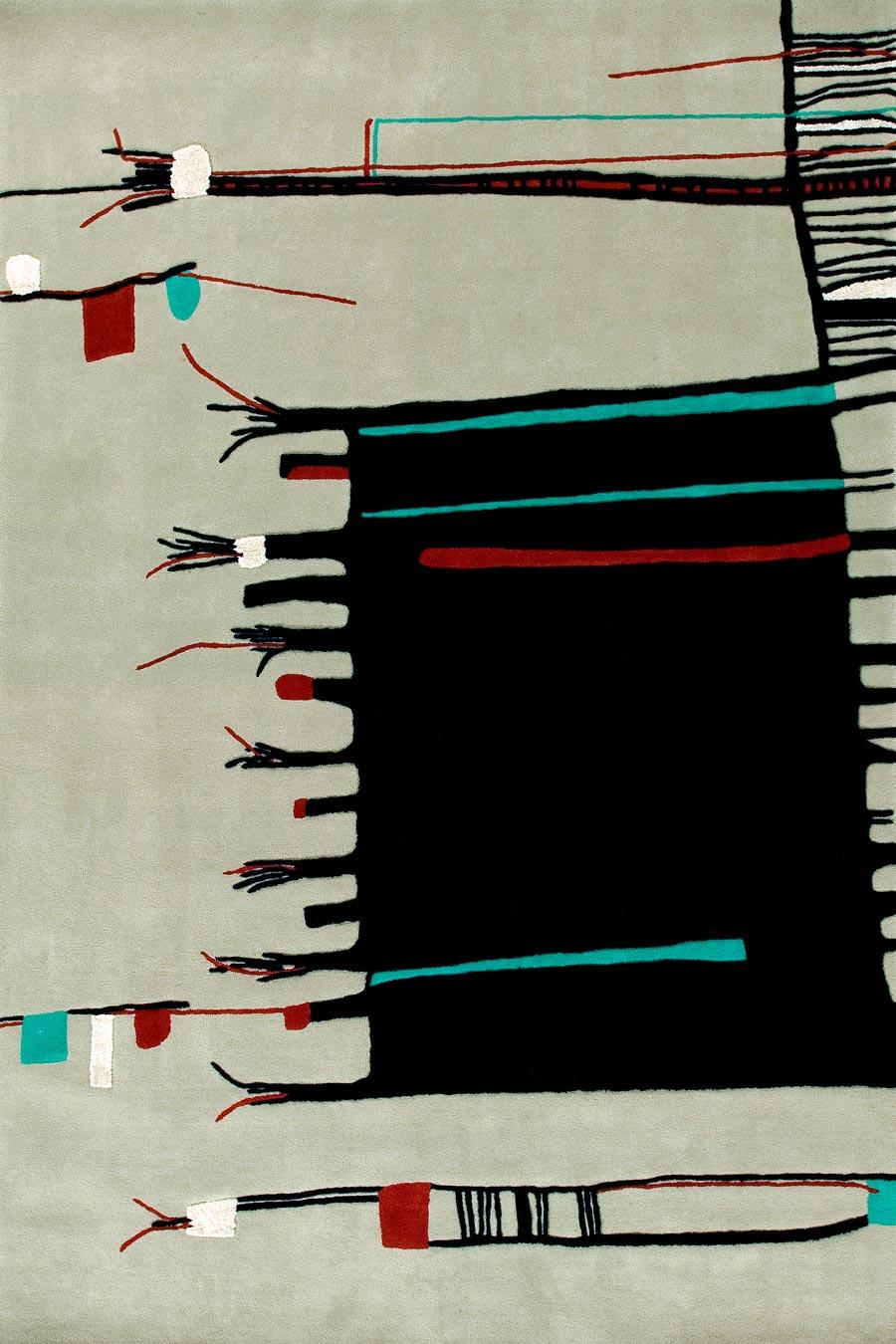 Overhead image of Beige northfacing rug by Cloth