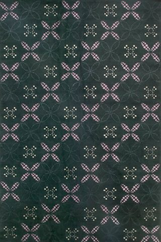 overhead of brodie rug by bernabeifreeman in charcoal geometric dot pattern