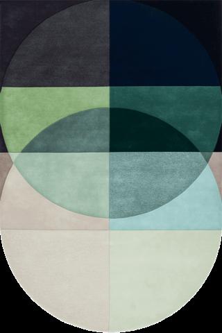 overhead of ocean rug by bernabeifreeman blue green