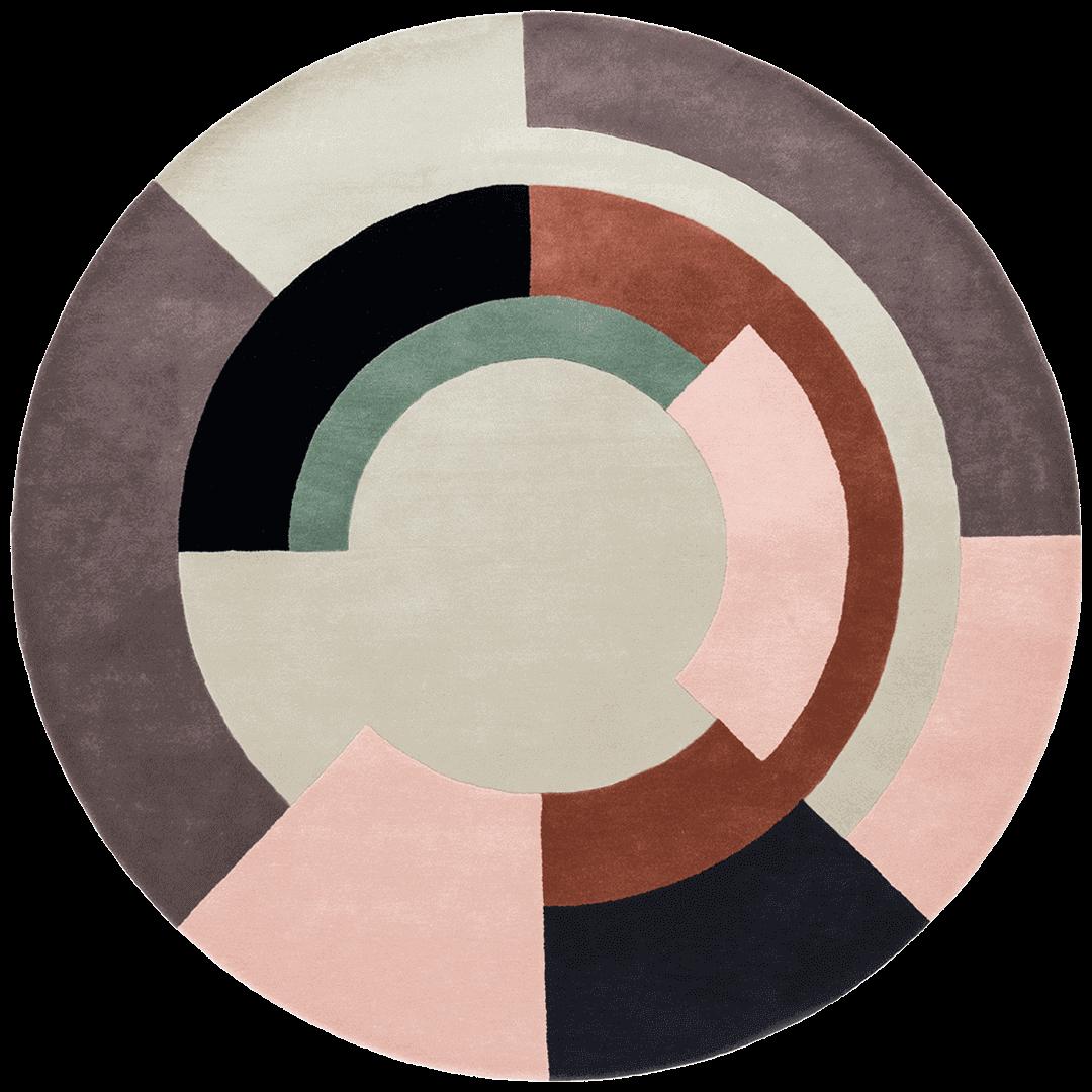 overhead of plateau round rug by bernabeifreeman
