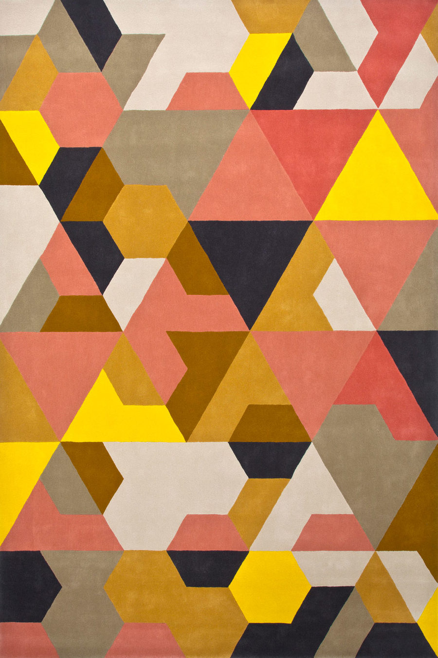 overhead of berlin rug by bleux in multi geometric pattern