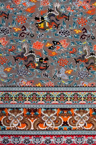 overhead of qin rug by camilla oriental dragon