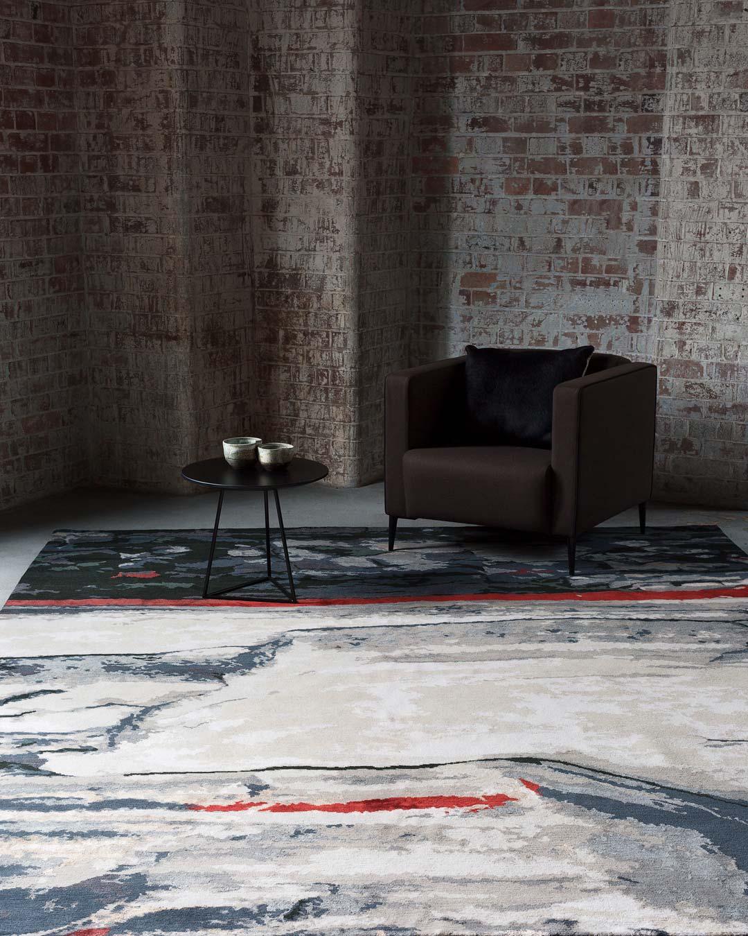 location shot of coledale rug by caroline baum