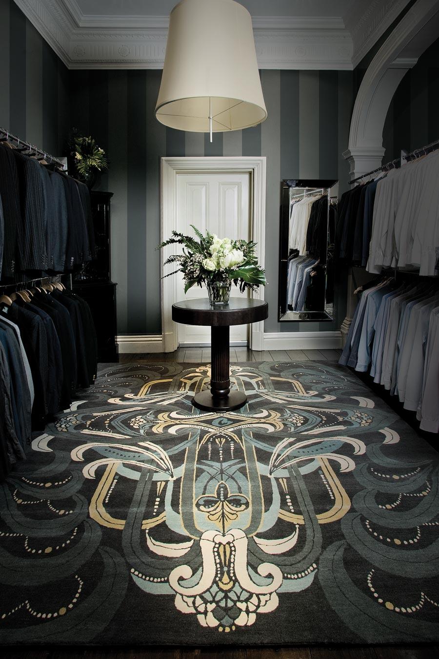 location wardrobe shot of rhapsody rug by catherine martin