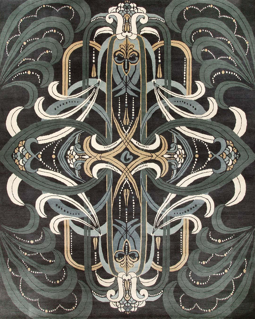 overhead of rhapsody rug by catherine martin