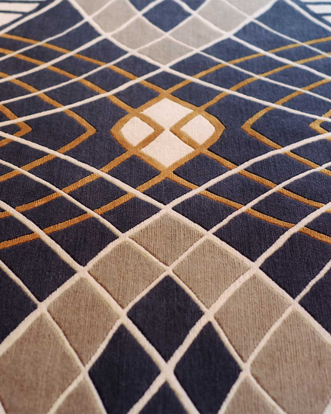 Close up of rhapsody rug by catherine martin