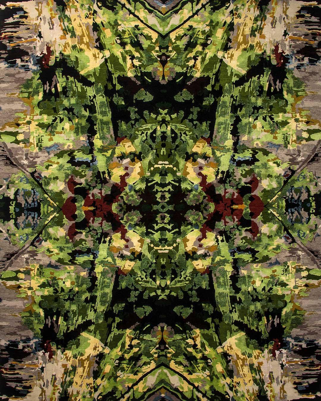 overhead of amazon spirit rug by derryn tal