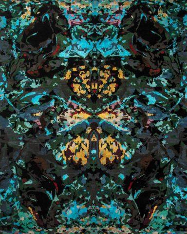 overhead of opal oasis rug by derryn tal