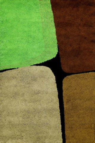 overhead of boulder 2 rug by dinosaur designs green brown