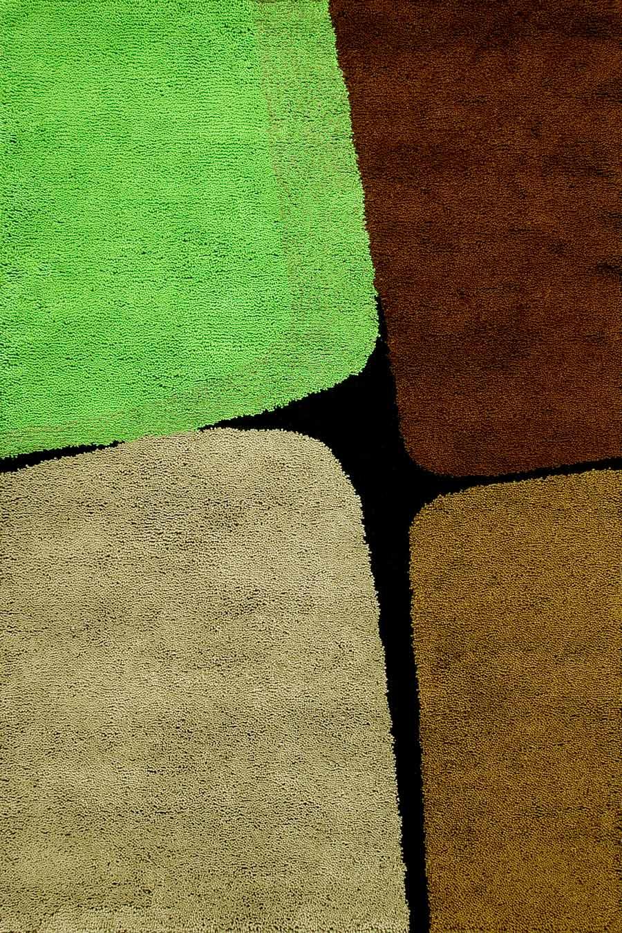 overhead of boulder 2 rug by dinosaur designs green brown
