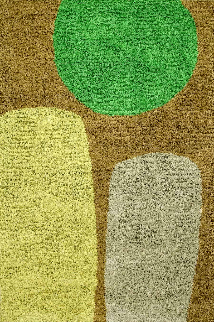 overhead of over the fence rug by dinosaur designs