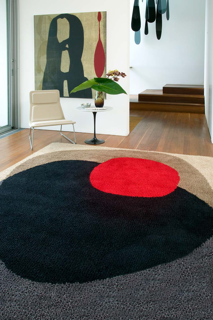 location shot of shifting stones rug by dinosaur designs
